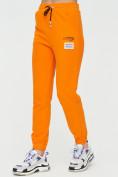 Оптом Штаны джоггеры женские оранжевого цвета 1312O в Екатеринбурге, фото 9