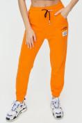 Оптом Штаны джоггеры женские оранжевого цвета 1312O в Екатеринбурге, фото 11