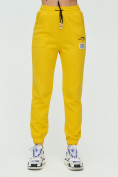 Оптом Штаны джоггеры женские желтого цвета 1312J в Казани, фото 8