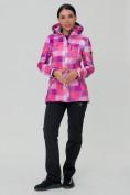 Оптом Костюм женский softshell розового цвета 01923R в  Красноярске