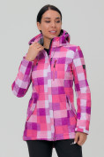 Оптом Костюм женский softshell розового цвета 01923R в  Красноярске, фото 2