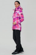 Оптом Костюм женский softshell розового цвета 01923R в  Красноярске, фото 3