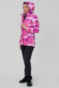 Оптом Костюм женский softshell розового цвета 01923R в  Красноярске, фото 5