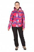 Оптом Куртка горнолыжная женская розового цвета 1784R, фото 3