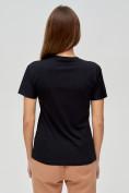 Оптом Женские футболки с принтом черного цвета 1601Ch в Екатеринбурге, фото 5