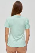 Оптом Женские футболки с принтом салатового цвета 1601Sl, фото 5