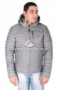 Интернет магазин MTFORCE.ru предлагает купить оптом куртка мужская стеганная серого цвета 1606Sr по выгодной и доступной цене с доставкой по всей России и СНГ