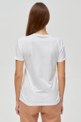 Оптом Женские футболки с принтом белого цвета 1614Bl, фото 5
