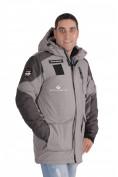 Оптом Куртка зимняя удлиненная мужская серого цвета 1627Sr в Екатеринбурге, фото 2