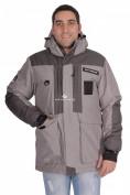 Оптом Куртка зимняя мужская серого цвета 1629Sr, фото 2