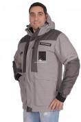 Оптом Куртка зимняя мужская серого цвета 1629Sr, фото 3