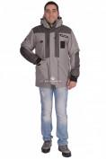 Интернет магазин MTFORCE.ru предлагает куртка зимняя мужская серого цвета 1629Sr по выгодной и доступной цене с доставкой по всей России и СНГ