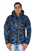 Интернет магазин MTFORCE.ru предлагает купить оптом ветровка - виндстоппер мужская мужская синего цвета 1637S по выгодной и доступной цене с доставкой по всей России и СНГ