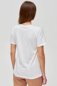 Оптом Женские футболки с принтом белого цвета 1645Bl, фото 5