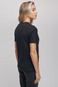 Оптом Женские футболки с принтом черного цвета 1681Ch в Екатеринбурге, фото 8