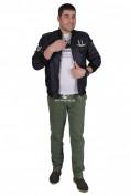 Интернет магазин MTFORCE.ru предлагает купить оптом куртка-бомбер мужскую свободного кроя темно-синего цвета 17023TS по выгодной и доступной цене с доставкой по всей России и СНГ