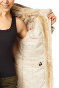 Оптом Куртка парка демисезонная женская ПИСК сезона бежевого цвета 17099B в  Красноярске, фото 7