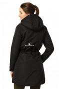 Оптом Куртка парка демисезонная женская черного цвета 17099Ch в  Красноярске, фото 4