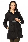 Оптом Куртка парка демисезонная женская черного цвета 17099Ch в  Красноярске, фото 5