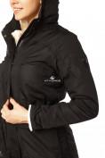 Оптом Куртка парка демисезонная женская черного цвета 17099Ch в  Красноярске, фото 6