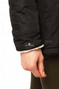 Оптом Куртка парка демисезонная женская черного цвета 17099Ch в  Красноярске, фото 7