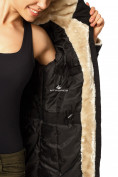 Оптом Куртка парка демисезонная женская черного цвета 17099Ch в  Красноярске, фото 8