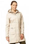 Оптом Куртка парка демисезонная женская ПИСК сезона бежевого цвета 17099B в  Красноярске, фото 2