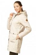 Оптом Куртка парка демисезонная женская ПИСК сезона бежевого цвета 17099B в  Красноярске, фото 5
