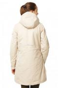 Оптом Куртка парка демисезонная женская ПИСК сезона бежевого цвета 17099B в  Красноярске, фото 4