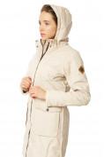Оптом Куртка парка демисезонная женская ПИСК сезона бежевого цвета 17099B в  Красноярске, фото 8