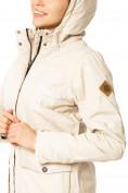 Оптом Куртка парка демисезонная женская ПИСК сезона бежевого цвета 17099B в  Красноярске, фото 6