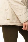 Оптом Куртка парка демисезонная женская ПИСК сезона бежевого цвета 17099B в  Красноярске, фото 3