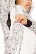 Оптом Куртка горнолыжная женская белого цвета 17122Bl, фото 5