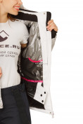 Оптом Куртка горнолыжная женская белого цвета 17122Bl, фото 8