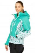 Оптом Куртка горнолыжная женская зеленого цвета 17122Z, фото 2