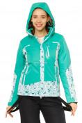 Оптом Куртка горнолыжная женская зеленого цвета 17122Z, фото 4