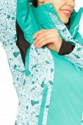 Оптом Куртка горнолыжная женская зеленого цвета 17122Z, фото 5