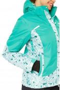 Оптом Куртка горнолыжная женская зеленого цвета 17122Z, фото 6