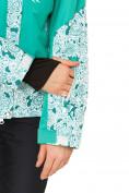 Оптом Куртка горнолыжная женская зеленого цвета 17122Z, фото 7