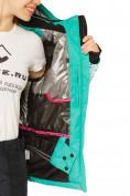 Оптом Куртка горнолыжная женская зеленого цвета 17122Z, фото 8