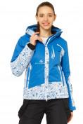 Оптом Костюм горнолыжный женский синего цвета 017122S в  Красноярске, фото 2