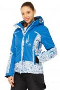 Оптом Костюм горнолыжный женский синего цвета 017122S в  Красноярске, фото 3