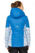 Оптом Костюм горнолыжный женский синего цвета 017122S в  Красноярске, фото 4