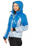 Оптом Костюм горнолыжный женский синего цвета 017122S в  Красноярске, фото 5