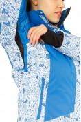 Оптом Костюм горнолыжный женский синего цвета 017122S в  Красноярске, фото 6