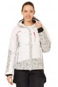 Оптом Куртка горнолыжная женская белого цвета 17122Bl