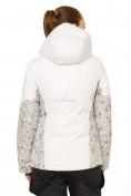 Оптом Костюм горнолыжный женский белого цвета 017122Bl, фото 4