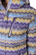 Оптом Куртка спортивная женская осень весна фиолетового цвета 1716F в Казани, фото 2