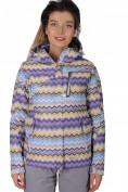 Оптом Куртка спортивная женская осень весна фиолетового цвета 1716F в Казани