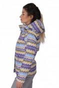 Оптом Куртка спортивная женская осень весна фиолетового цвета 1716F в Казани, фото 3